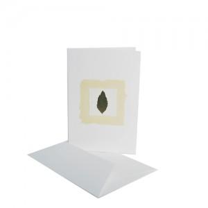 Drevesni listek na naravnem papirju